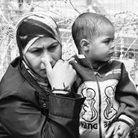 Mother & Son - Refugees from Syria stuck in Idomeni Refugee Camp, Northern Greece.
