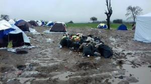 500 refugees, forgotten about between Macedonia and Serbia Photo By Safwat