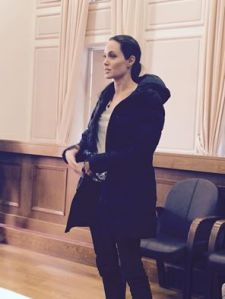 Angelina Jolie at the General Coordinators Meeting in Mytilini