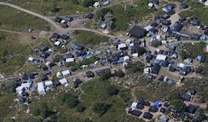 Aerial View of Refugee Camp