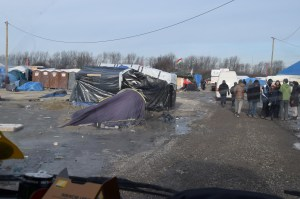 Poor quality secondhand tents that many in the camp are still living in