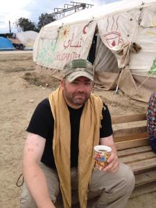 Mike On Location At The Unofficial Refugee Camp 'Idomeni' In Northern Greece.